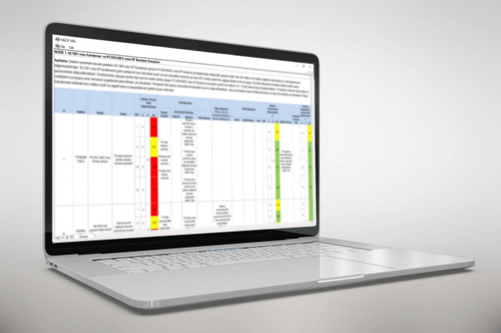 Tehlike ve İşletilebilirlik (HAZOP) Yazılımı  - hazop - Software