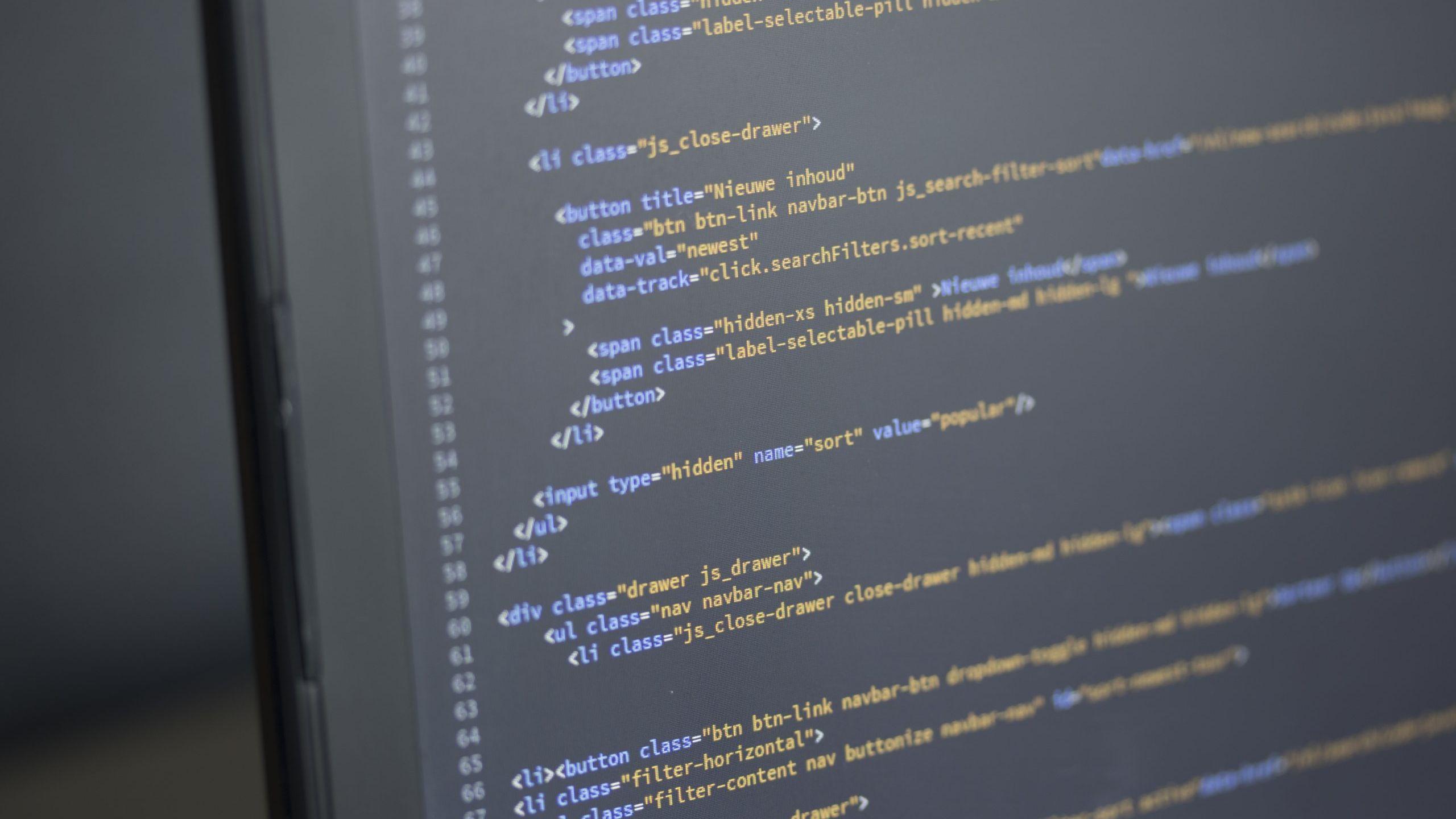 [object object] - code on computer screen programming software HYSWVPH scaled uai 2560x1440 - Yazılımlar